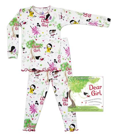Made in the USA, Cotton Pajamas, Books to Bed, Dear Girl 2 PC Pajama Set