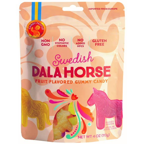 European Gummies, Swedish Candy, Non-GMO Dala Horse