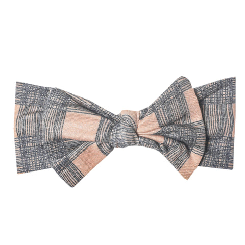 Copper Pearl Bow Headband Headwrap, Billie
