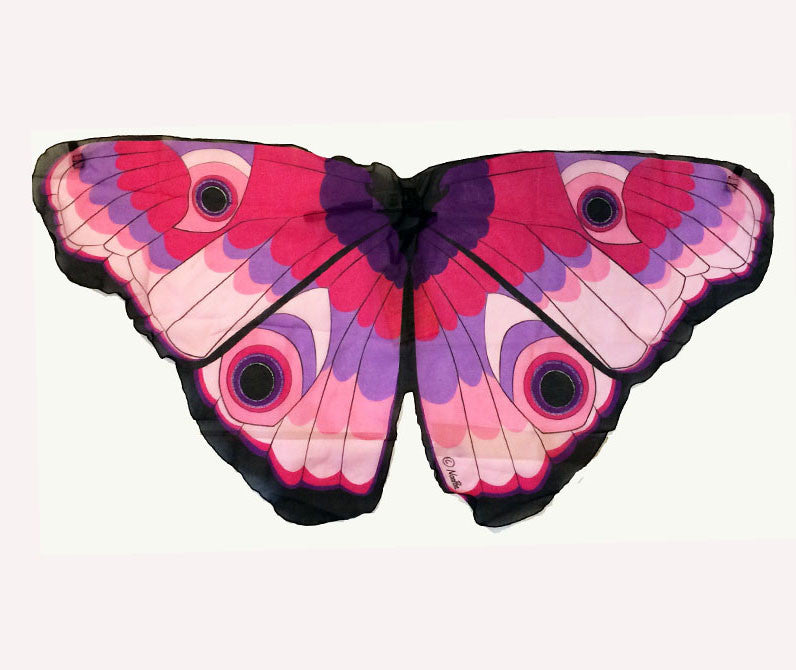 Butterfly/Fairy Soft Fabric Wings, Pink Glitter