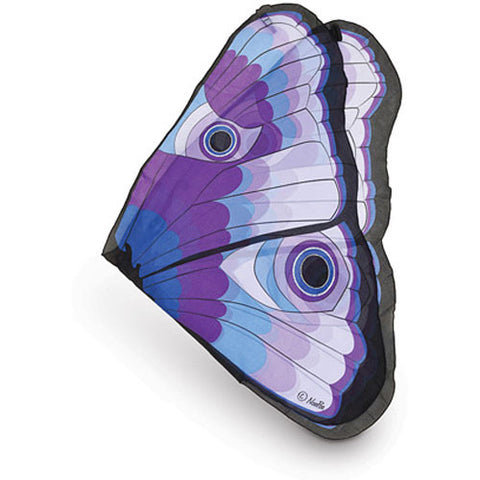 Butterfly/Fairy Soft Fabric Wings, Purple Glitter