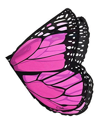 Butterfly/Fairy Soft Fabric Wings, Monarch Pink