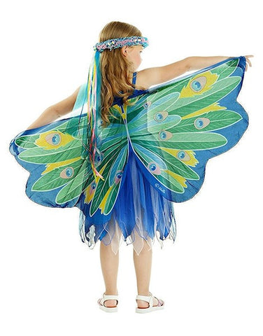 Butterfly/Fairy Soft Fabric Wings, Peacock