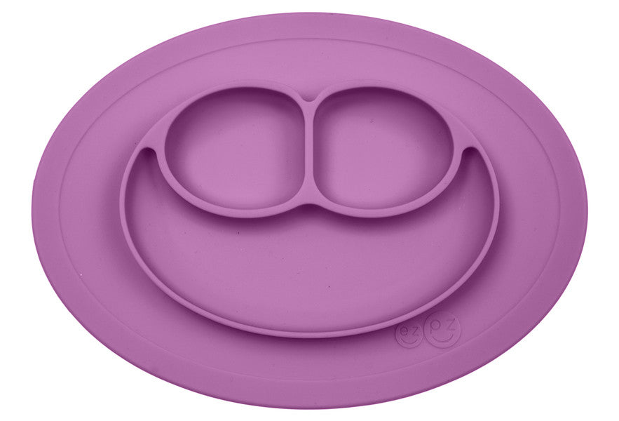 EZPZ mini Mats - Divided Plate + Placemat All-In-One -EXCLUSIVE COLOR: Berry
