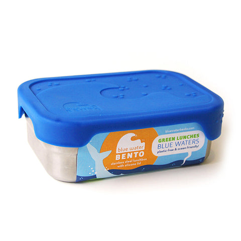 EcoLunch SplashBox Stainless Steel Lunch Box w/Silicone Lid, Blue