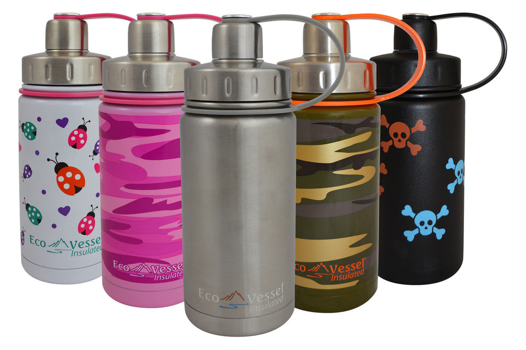Eco Vessel - Insulated, Twist Top Triple Stainless Steel Water Bottle w/Strainer 13 Fl. Oz. <br>(CLICK FOR MORE COLOR OPTIONS)
