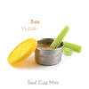 EcoLunch Round Stainless Steel Seal Cup Food Container, Mini, 6 oz - Yellow