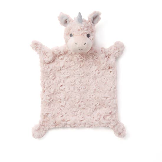 Plush Snuggler Pink Unicorn Security Blankie Toy