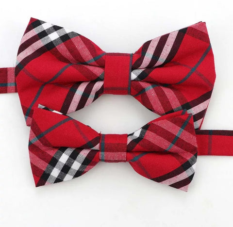 Boys Adjustable Bow Tie - Bright Festive Red (Two Sizes)
