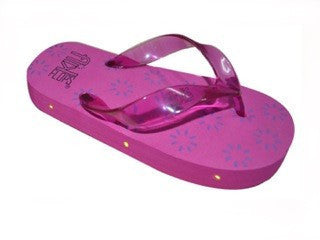 LED Flip Flops, Kids Sandals - Pink with Sun Print