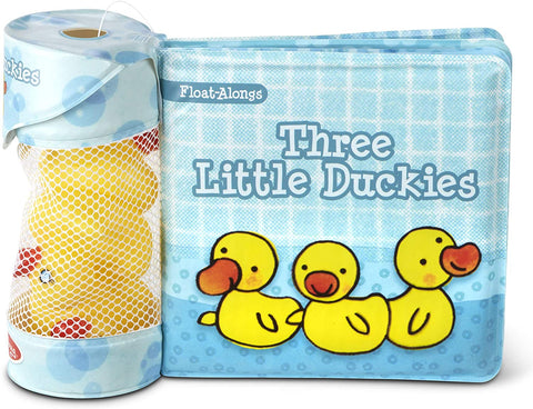 Melissa & Doug's Float Alongs Bath Books & Rubber Toy Set, 3 Little Duckies