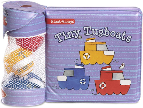 Melissa & Doug's Float Alongs Bath Books & Rubber Toy Set, 3 Tiny Tugboats