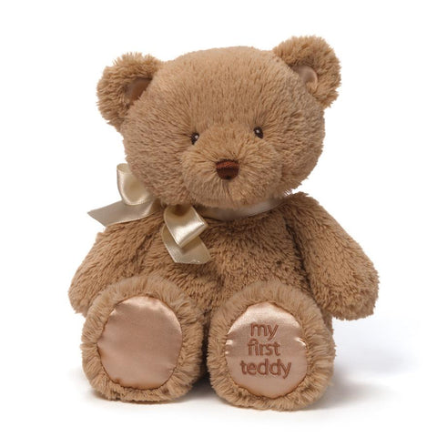 Bear, 1st Teddy Plushie Newborn Baby Gift - Light Tan