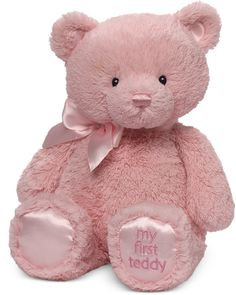 newborn-gift-first-teddy-bear-classic-bear-plush-pink
