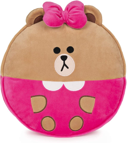 Line Friends Official Plush Collectible Toy Character Pillow, Choco Bear