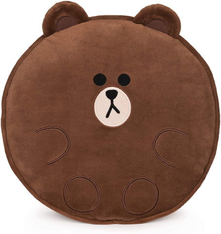Line Friends Official Plush Collectible Toy Character Pillow, Brown Bear