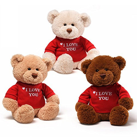 "Gund 12"" Classic T-Shirt Bear, I Love You (3 color options)"