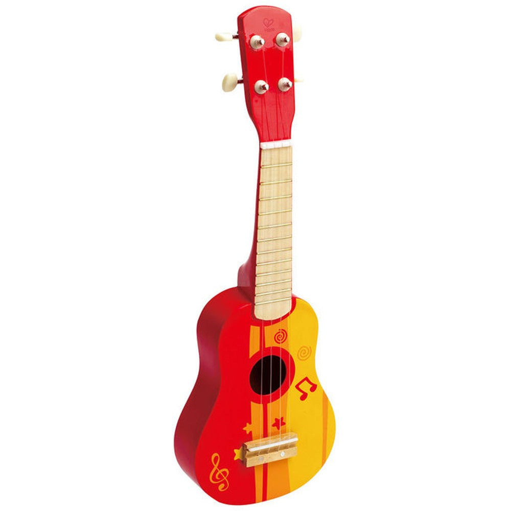 Hape Music Toys, Wooden Ukulele - Red