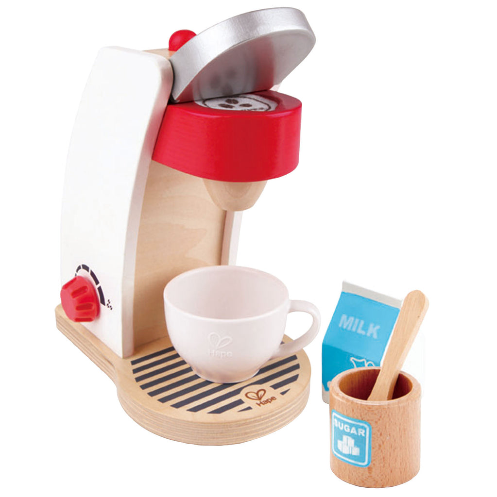 kids wooden toys, kitchen play set, coffee maker, Hape Germany Sustainable Toys