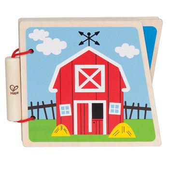On the Farm Picture Baby Board Book, Wooden Book for toddlers