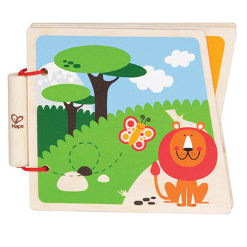Hape Wooden Picture Book - At The Zoo