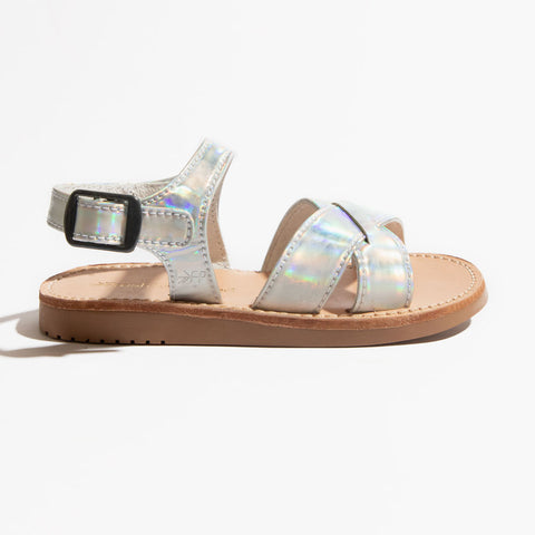 Freshly Picked, Genuine Leather Sandals, Holographic Saybrook