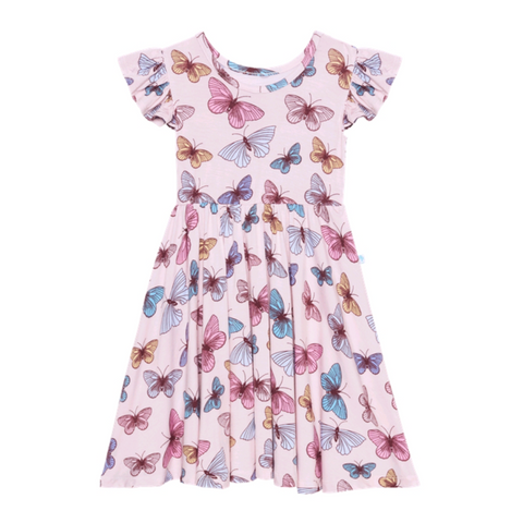Posh Peanut Bamboo Eco Lux Twirl Dress, Butterfly, Nora