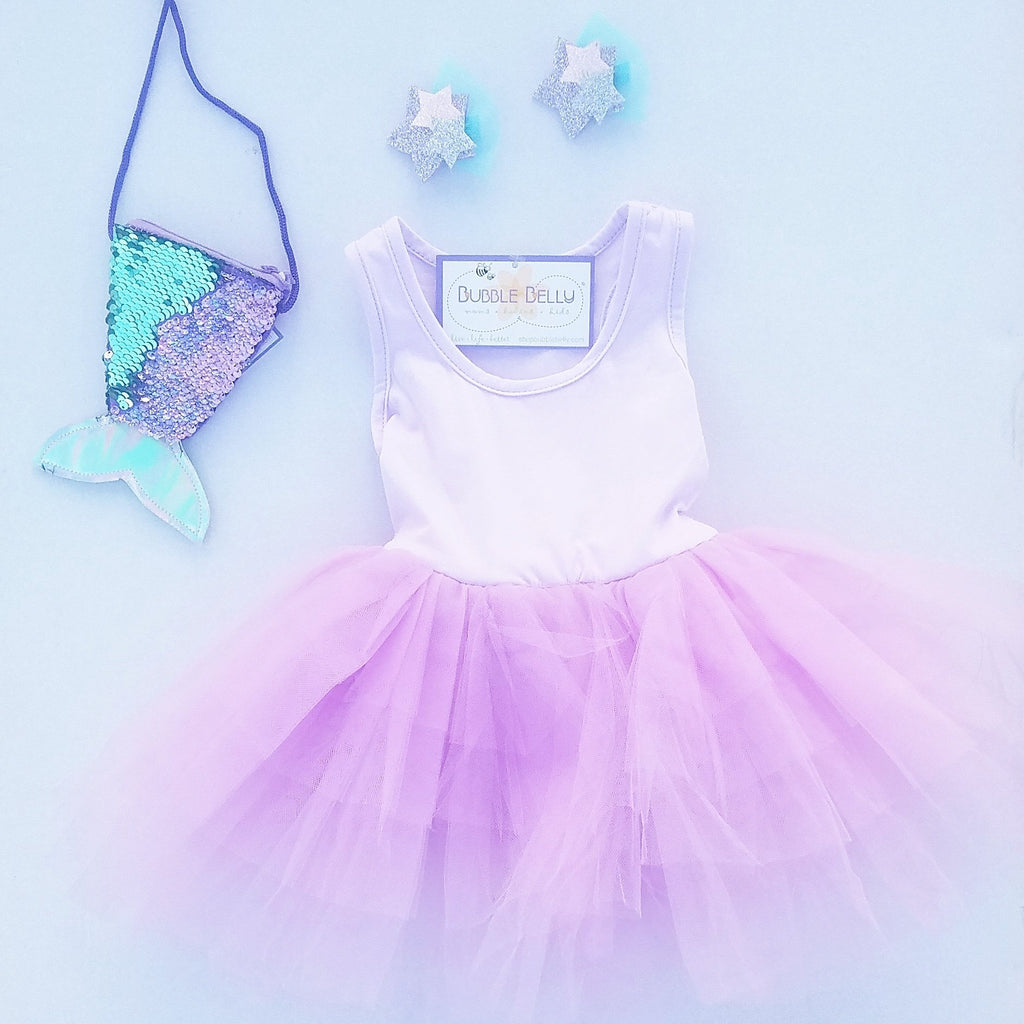 little girls dance tutu dress, purple tank top dance dress, lavender