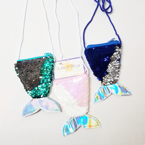Accessories - Little Girl's Mermaid Tail Coloring Changing Sequined Purse