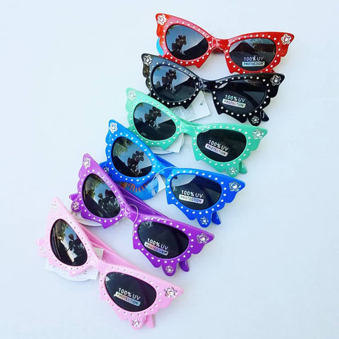 Sunglasses - Bright Butterfly Frames w/Sparkles (CLICK FOR COLOR OPTIONS)
