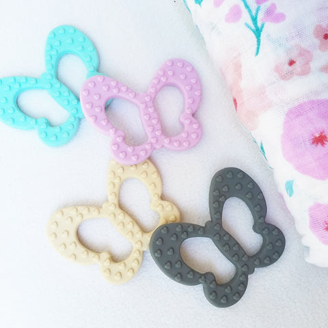 Butterfly Teethers, Silicone, 100% BPA & Phthalate-Free