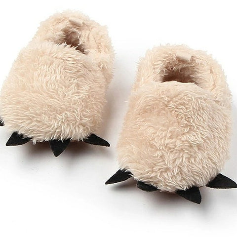 Bear Paw & Claw Fuzzy Slippers for Infants