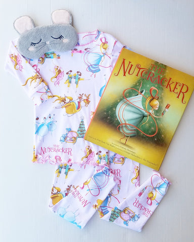 Books to Bed Nutcracker Pajamas, Hard Cover Book