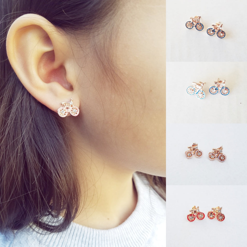 Earrings, Bicycles & Rhinestones (CLICK FOR COLOR OPTIONS)