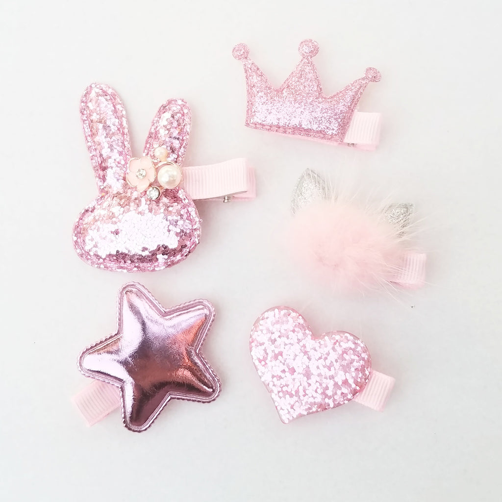 Handmade Non-Slip Hair Clips - Pinks - All Things Sparkly & Bright - (CLICK FOR MORE OPTIONS)
