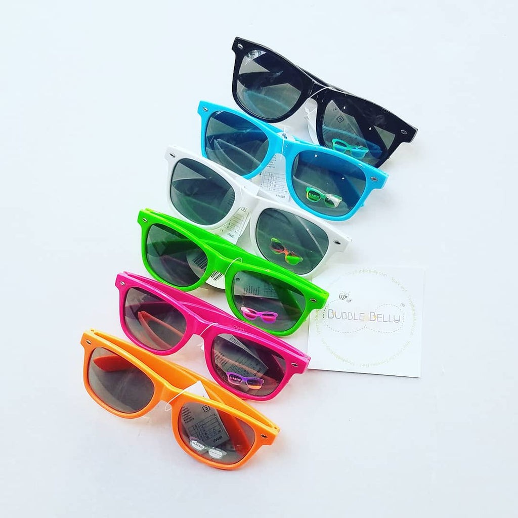 Kids Sunglasses, Classic Wayfarers, Hard Candy Brights (CLICK FOR COLOR OPTIONS)
