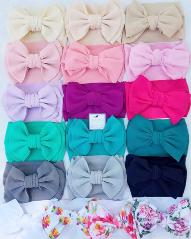 "XL 7"" Bow Headwrap, (CLICK FOR MORE OPTIONS)"