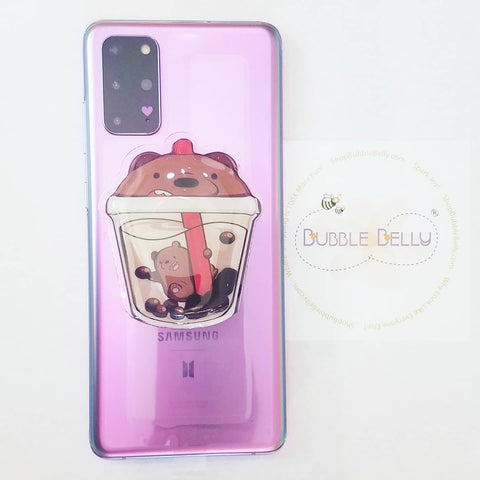 Bear & Boba Puffy Squishy Phone Socket