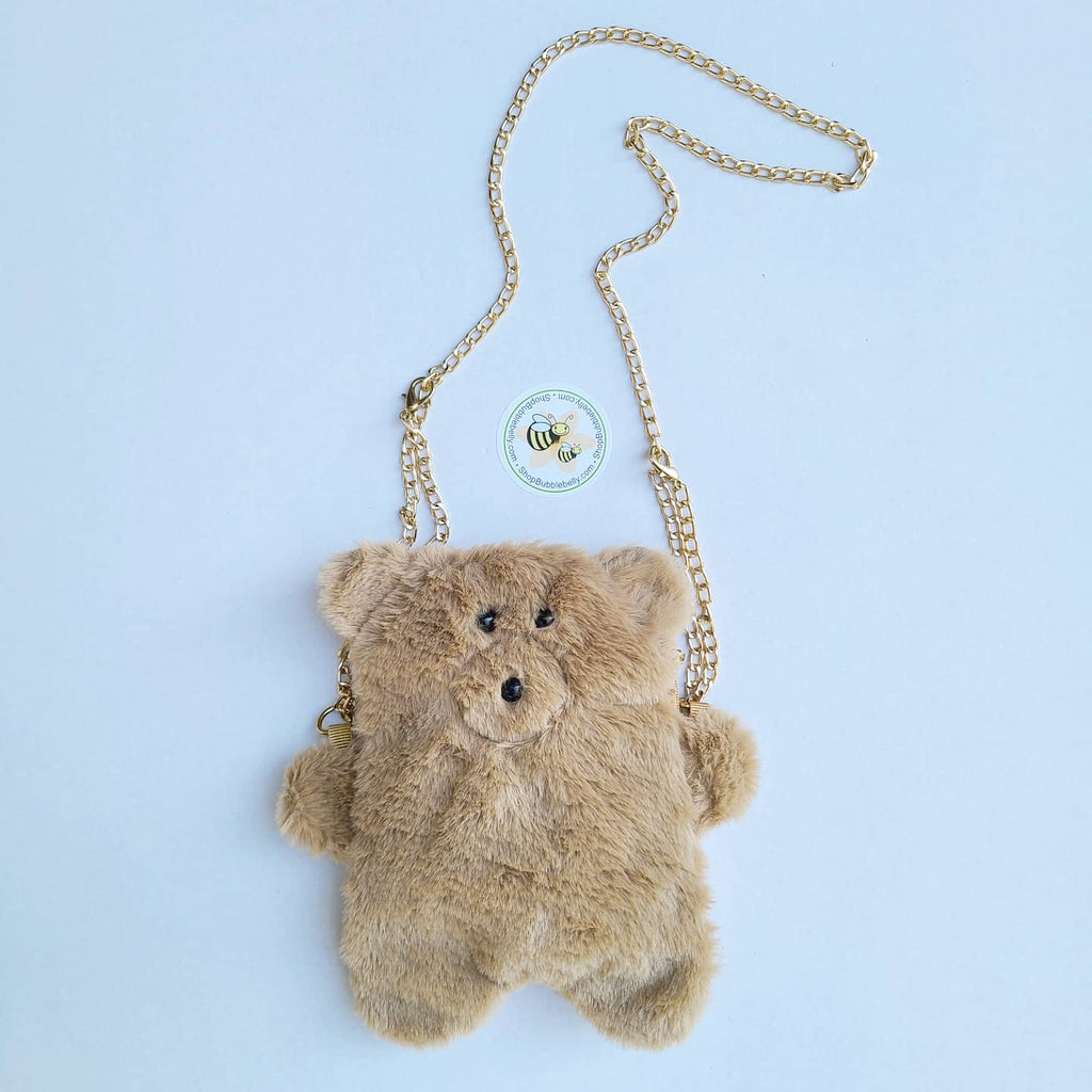 Accessories - Crossbody Plush Teddy Bear Purse, Coco