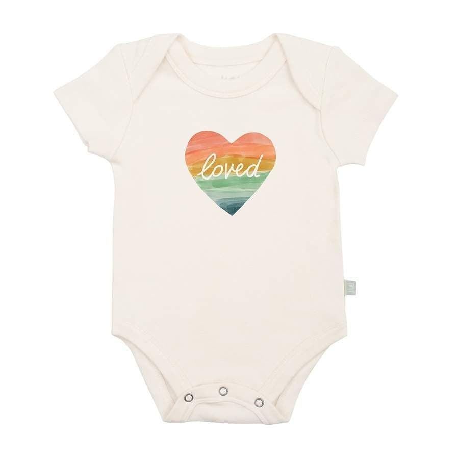 Organic Cotton Snap Bodysuit, Finn & Emma, Loved