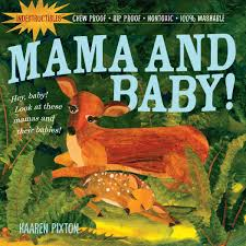 Mama and Bbay Indestructible Baby Book with a Mom deer and baby deer as the cover