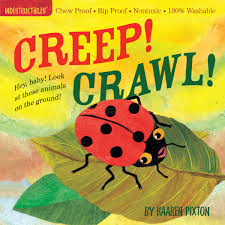 Washable Baby & Toddler Book, Creep! Crawl! - Indestructible Book