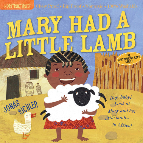 Book - Indestructibles, Chew-Proof, Washable Book - Mary Had a Little Lamb