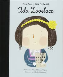 Little People Big Dreams Ada Lovelace Book with cartoon drawing of Ada Lovelace as the cover