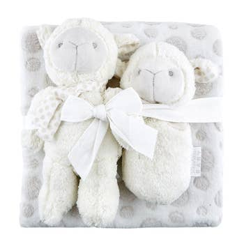 Plush Lamb, Blankie & Rattle Set - Unisex