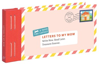 gift for moms, keepsake timecapsule, letters to my mom book & journal