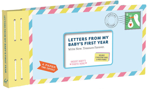 Letters From My Baby's First Year, Keepsake Time Capsule Memory Book