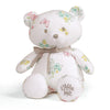 soft bear plush toy for kids, soft, embroidered eyes, cuddle toy, butterfly, aqua