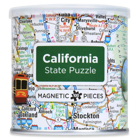 Magnetic 100 PC State Puzzle, California