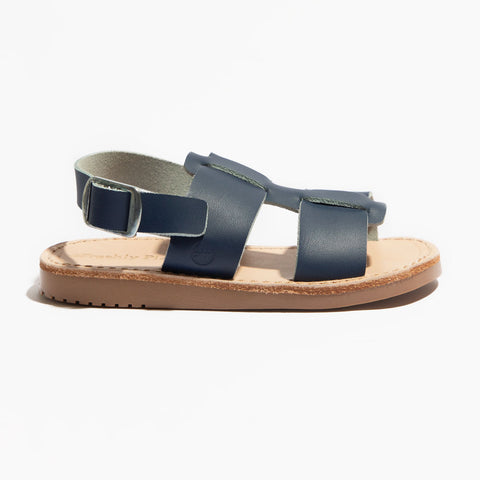 Freshly Picked, Genuine Leather Sandals, Unisex, Maritime Monterey Blue